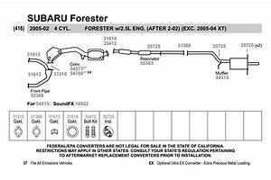 2001 Subaru Forester Exhaust Diagram