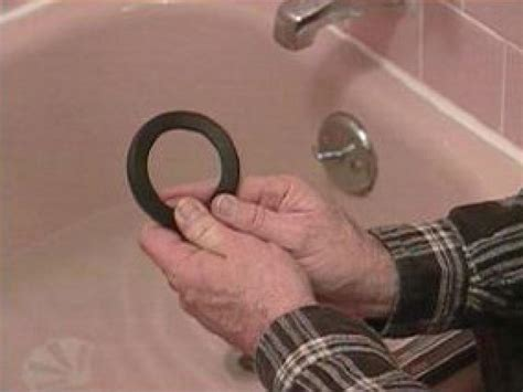 tub overflow gasket leak bathtub overflow gaskets hgtv