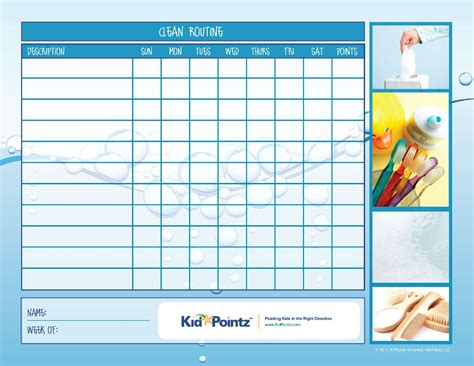 daily routine charts  kids collection  pages