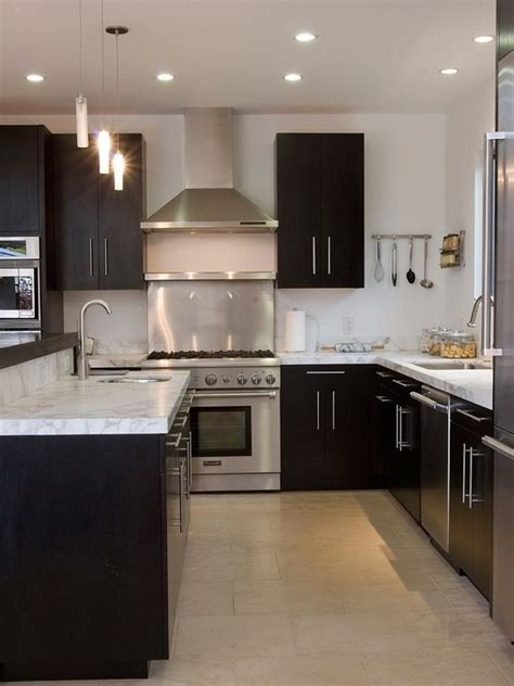 white or dark kitchen cabinets dark kitchen cabinets with white and carrera marble i 691 | 22a11f638621cb5f140f4b59ab008bfe