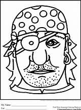 Coloring Pirate Masker Knutselen Colorare Piraat Pirata Maschera Carnaval Eye Kleurplaat Patch Disegno Mascaras Piratas Malvorlage Caretas Colorear Dibujos Masque sketch template