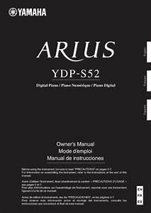 Notice Yamaha Ydp-s52