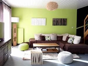 rafraichissement colore pour un salon vieillissant With couleur chaleureuse pour salon 11 comment decorer un salon marron