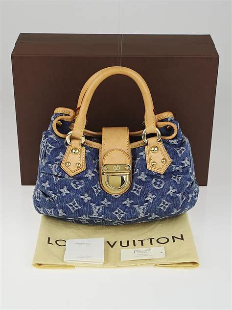 louis vuitton blue monogram denim pleaty bag yoogis closet