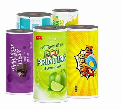 Acm Plastic Flexible Packaging Film Printing Slide