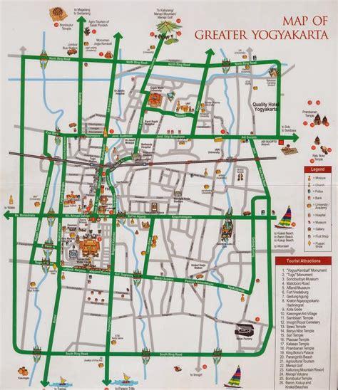 yogyakarta tourist maps yogyakarta city map tourist