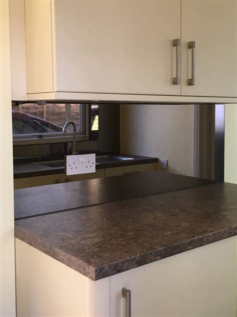 bronze mirror kitchen splashback uaglass norwich