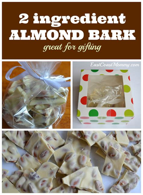 east coast mommy  ingredient almond bark