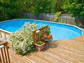 Above Ground Pool Deck Images In Ground Vs Above Ground Pools Hgtv