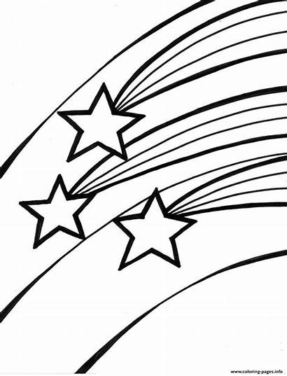 Stars Coloring Shooting Pages Printable