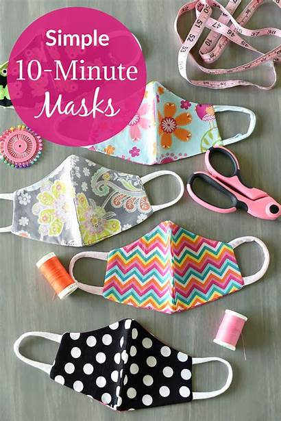 Mask Face Pattern Simple Comfortable Masks Sewing
