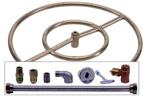 gas pit burner kit 18 quot stainless steel gas pit burner ring kit