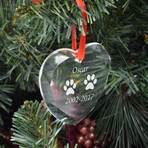 personalised pet memorial love heart bauble