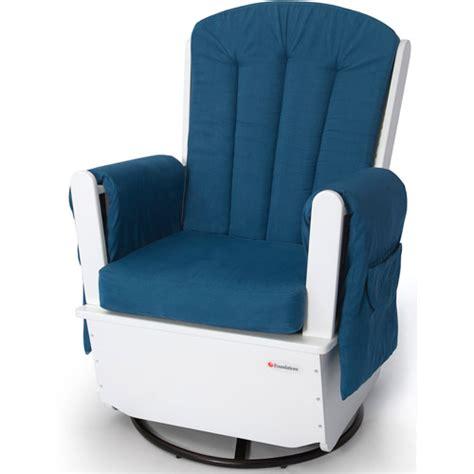 Swivel Glider Chair Walmart by Foundations Saferocker Ss Swivel Glider Rocker White Blue