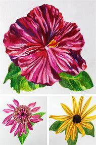 Drawing Flowers with Colored Pencils