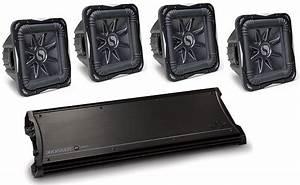 Kicker Car Audio Zx2500 1 Class D Amplifier  U0026 Four S12l7