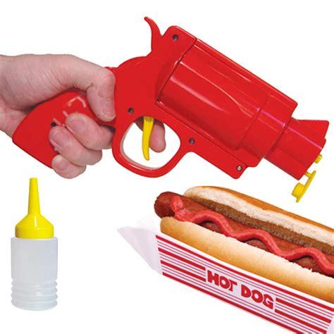 gadget de cuisine pistolet distributeur de ketchup et sauces gadget jeux