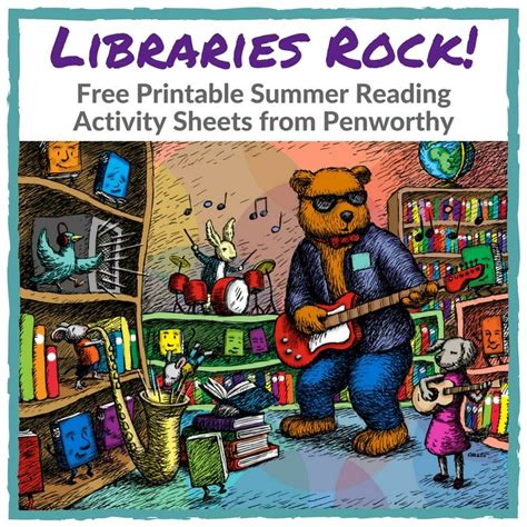 free printable quot libraries rock quot summer reading activity