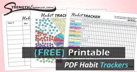 printable  habit tracker  instant