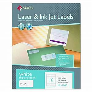 maco ml1000 white laser inkjet shipping address labels With maco laser and inkjet labels template