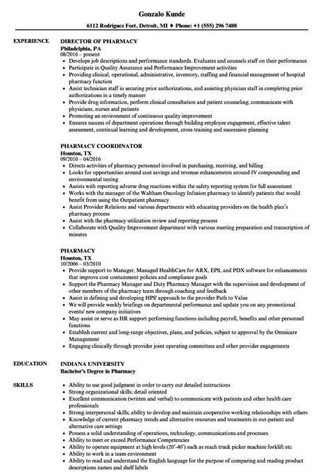 Specialty Pharmacist Resume by Pharmacy Resume Sles Velvet