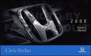 2009 Honda Civic 4 Door Sedan Owner U0026 39 S Manual Original