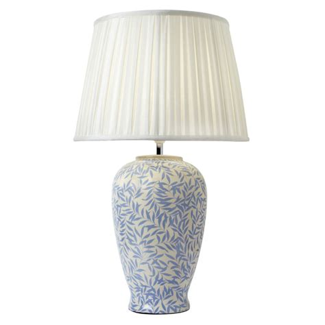 Interior Charming Table Lamp Design Using White Fabric