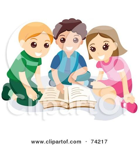 children reading together clipart maercon hairstyle children reading books clip