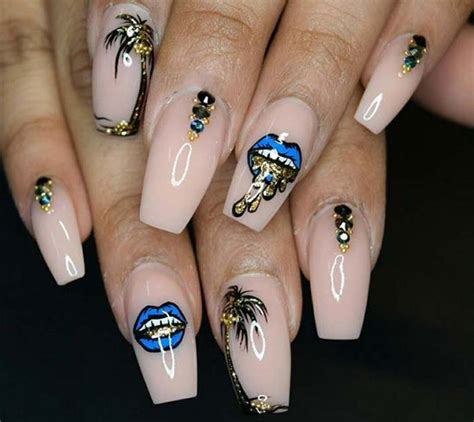 long acrylic nails designs  flaunt
