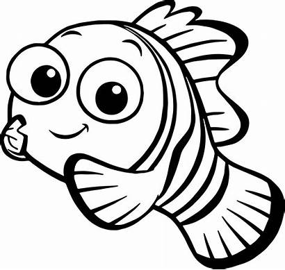 Nemo Coloring Disney Finding Pages Printable