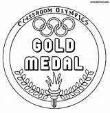 Medal Olympic Coloring Drawing Pages Gold Sport Getdrawings sketch template