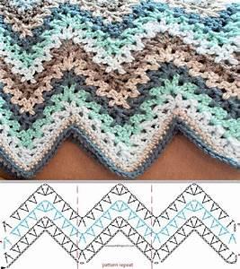 V-stitch Ripple Afghan
