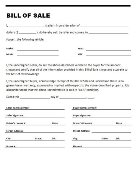 where do i get a bill of sale form vehicle bill of sale form template sle calendar