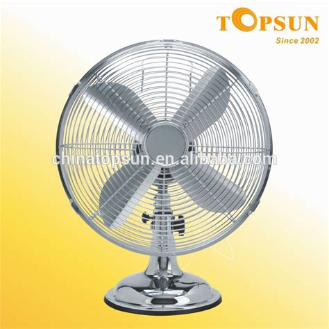 oscillating retro desk fan 16 quot 3 speed motor chrome buy