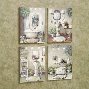 bathroom bliss wooden wall art plaque set With wall plaques for bathroom