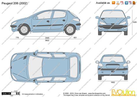 Theblueprintscom  Vector Drawing  Peugeot 206