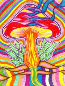 Trippy Mushroom Drawings Art