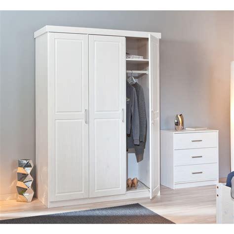 armadio guardaroba armadio classico 3 ante bianco in legno massello da
