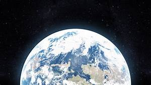 Planet Earth With Moon In Space Stock Footage Video ...