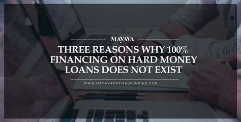 Three Reasons Why 100% Financing On Hard Money Loans Does