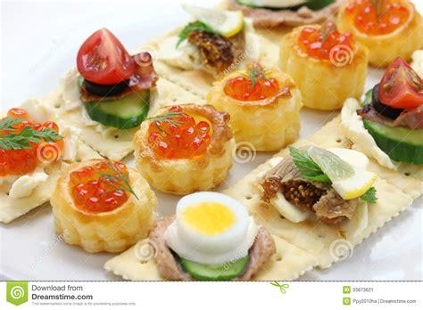 canapé cuisine assorted canape stock image image 33873621
