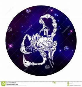 Skorpionzodiaktecken  Horoskopsymbol  Vektorillustration