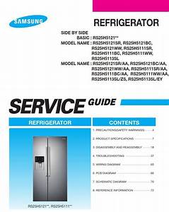Samsung Rs25h5121sr Rs25h5121bc Rs25h5121ww Service Manual