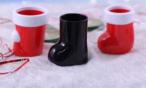 santa boots booze cups christmas drinks