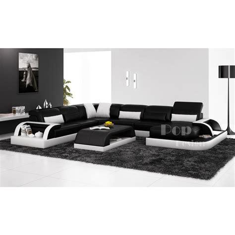 canapé en cuir design canapé d 39 angle panoramique design en cuir véritable bolzano xl