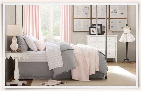 Grey And Pink For Girl's Bedroom