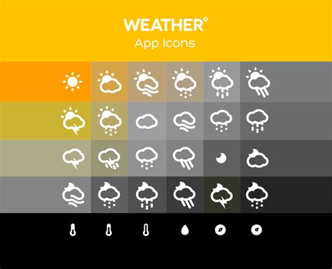weather app icons free png web icons