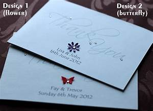 pack of handmade personalised wedding thank you cards 6 With packs of wedding thank you cards