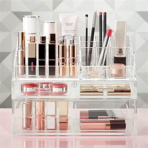 luxe acrylic lipstick makeup storage kit  container