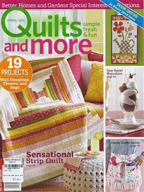 better homes and gardens quilts and more magazine 2014